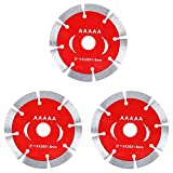 ManLee 3Pcs Diamond Cutting Disc 115mm Diamond Saw Blade Cutting Wheels Rotary Tool Accessories Angle Grinder Blade for Wood Stone Metal Brick Concrete Tile