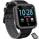 Kids Smart Watch, Music Game Smartwatch Phone for Kids, Two Way Calling/SOS/Camera/Video/Alarm/Calculator/Flashlight, HD Touch Screen Children Watch Toys for Boys Girls Age 3-12 Birthday Gift (Blalck)