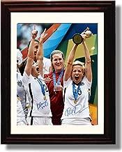 Framed USWNT - Megan Rapinoe & Kingenberg 2015 Celebration Autograph Replica Print