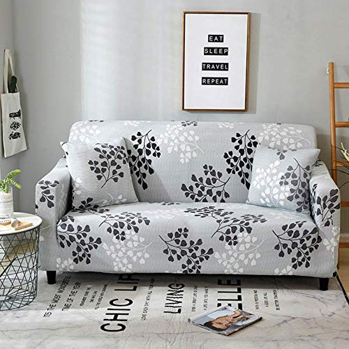 Funda de sofá gris Fundas para muebles elásticas Fundas de sofá elásticas para sala de estar Funda de asiento con funda deslizante Funda de asiento de spandex sofá 1-4 plazas, Color 2,4-Seater (235-3