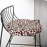 QYN Leopard Kaninchen Pelz Dicker Tatami Stuhl Pad,Nicht-Slip Langlebiges Essen Sitzpolster Winter Warme Windel Sitzauflage Zu Car Office Home-b 40x40cm(16x16inch)