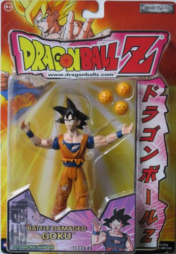 Dragonball Z 5' BATTLE DAMAGED GOKU Action Figure - DBZ SERIES 13 - JAKKS