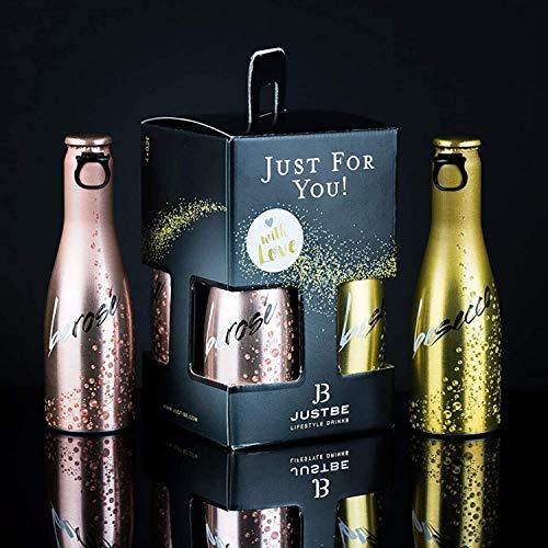 JUST BE Geschenke-Set aus verschiedenen Piccolo Wein + Wein-Cocktails | 4 x 0,2 L (BeRose + BeSecco)