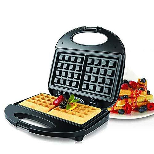 YourBooy Waffeleisen Maschine, Bubble Egg Cake Ofen Frühstück Waffel Maschine Abnehmbare Antihaftplatten für einzelne Waffeln, Paninis, Hash Browns,Schwarz