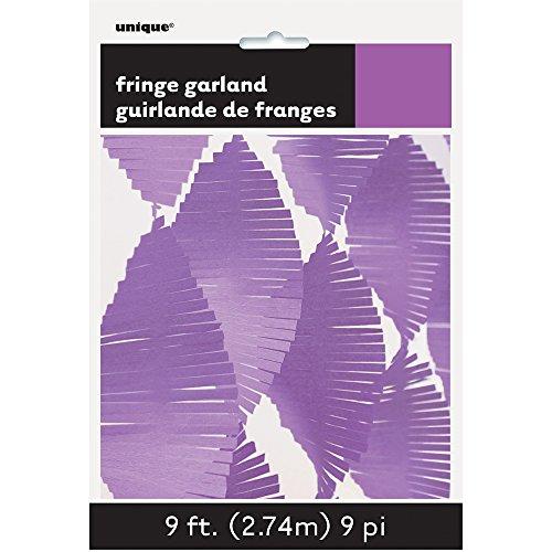 Unique Party 63635 - 9ft Purple Tissue Paper Fringe Garland