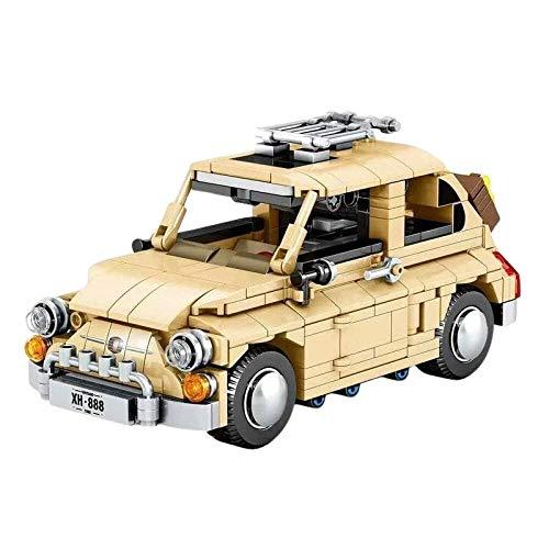 Vehículo de construcción Technic Racing Pull Back Sports Cars 500 Moc Kit De Ladrillos De Construcción Bloques Supercars Modelo De Vehículo Juguetes Clásicos para Niños