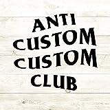 43LenaJon Adhesivo de vinilo para ventana con texto personalizado anti club, ropa de calle Hype Parodia, transferencia de plancha, adhesivo impermeable