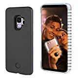 S9 Light up Case, FULLOPTO Selfie Light Case with High Brightness LED Light Illuminated Selfie Light Phone Case Cover Rechargeable Protective Cell Phone Case for Samsung S9(5.8 inch, Black)