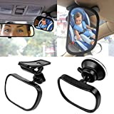 Wommty Car Mirror for Baby, Back Seat Baby Mirror - Rear View Baby/Infant
