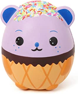 "Anboor 5.5"" Squishies Jumbo Panda Egg Creamy Candy Ice Cream Slow Rising Scented Kawaii Squishies Animal Toy for Collection,1 Pcs"