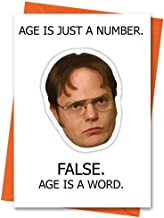 Funny Birthday Card The Office US Dwight Schrute - Age is Just a Number Office TV Series Greeting Card