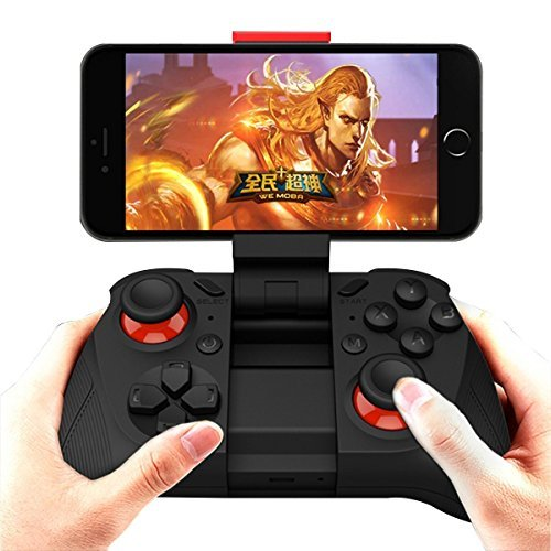 ANMKOT Wireless USB Rechargeable Bluetooth Game Controller Gamepad Joypad Joystick for Samsung Gear VR, S7, S7 Edge, with Clip for Android
