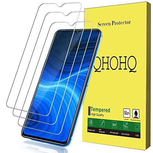 QHOHQ Protector de Pantalla para Realme X2 Pro, [3 Piezas] [Dureza 9H] Sin Burbujas HD Transparente Anti-Arañazos Cristal Templado