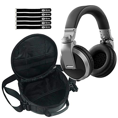 Pioneer DJ HDJ-X5 Professional Over-Ear DJ Headphones Silver w Carrying Case