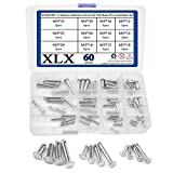 XLX 60PCS M3 / M4 / M5 12 Species Stainless Clevis Pin Flat Head Pin with Hole Location Pin T-Shape Round Pin Assortment Kit