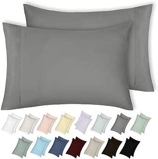 California Design Den 400 Thread Count 100% Cotton Pillow Cases, Slate Grey King Pillowcase Set of 2, Long - Staple Combed Pure Natural Cotton Pillowcase, Soft & Silky Sateen Weave