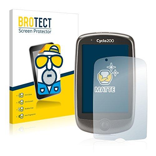 BROTECT 2X Entspiegelungs-Schutzfolie kompatibel mit Mitac Mio Cyclo 200 Bildschirmschutz-Folie Matt, Anti-Reflex, Anti-Fingerprint