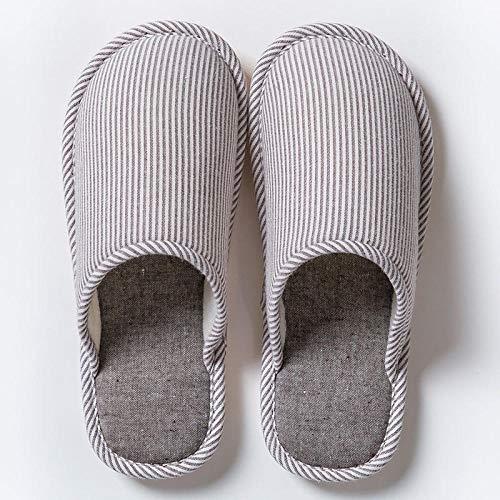 Espuma de Memoria Invierno Pantuflas,Pantuflas de algodón Antideslizantes para el hogar, Pantuflas cálidas de Suela Gruesa para Parejas-Brown_42-43,Medio Paquete con Zapatillas