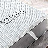 aotoze topper gel memory foam 150x200cm, correttore materasso per letto,coprimaterassi viscoelastico con certipur-eu