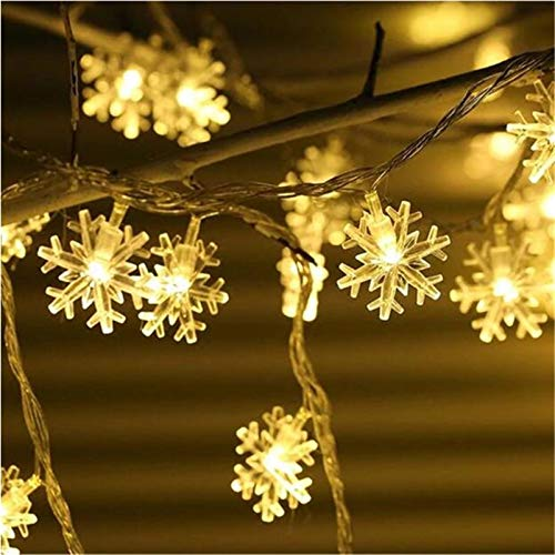 Snowflake String Lights,10ft 20 LED USB Fairy Lights Decoration Lightning for Christmas Wedding Birthday Holiday Party Indoor& Outdoor
