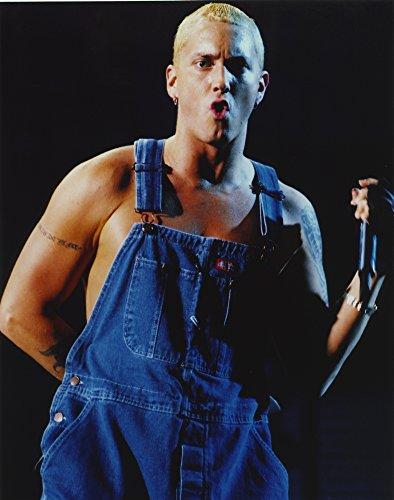 Celebrity Photos Eminem Wearring Blue Denim Outfit Portrait Photo Print (20,32 x 25,40 cm)