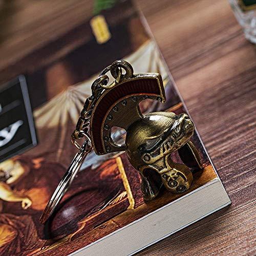 AMITD Schlüsselbund Schlüsselring Weinlese-Italien-Römischer Ritter-Sturzhelm Keychain Retro Römischer Sturzhelm-Schlüsselkette Römischer Zenturio-Sturzhelm-Schlüsselring Als Geschenk
