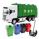 Saneamiento Simulación rc camiones infantiles remoto inalámbrico de basura coche del control de la separación y reciclaje Juguetes 2.4Ghz construcción de vehículos de control remoto de coches de autob