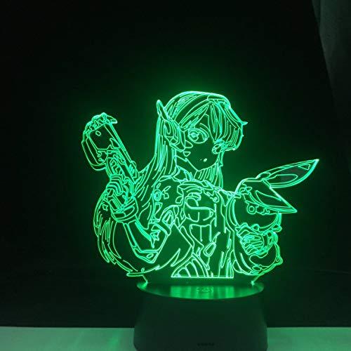 Personajes del juego luces LED multicolores decoración de fiesta luz de noche acrílica 3d decoración del hogar