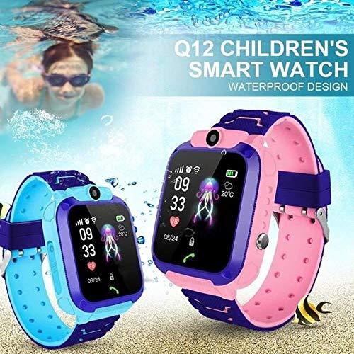 Relogio Q12 Inteligente Infantil Criança Gps Anti Perda Ip67 Sos Android ios (azul)