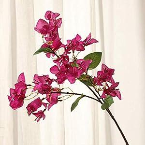 Silk Flower Arrangements ZKS-KS Artificial Flower Home Decor Simulation Bougainvillea Decorative Plum Blossom Artificial Flower Fake Flower (5Pcs)