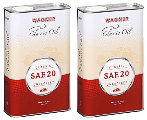 2X Wagner SPEZIALSCHMIERSTOFFE Motorenöl Motoröl Classic SAE 20 unlegiert 5 L