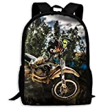 Unisex School Bag Outdoor Casual Shoulders Backpack Motocross Sport Motorcycle Vehicle Travel Daypacks for Women Men Kids