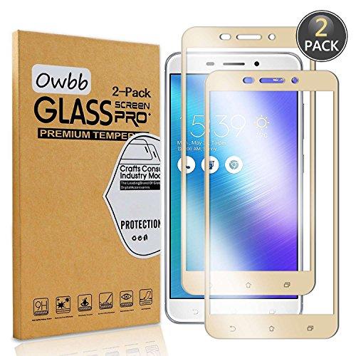 Owbbb® - Protector de pantalla de cristal templado para Asus ZenFone 3 Max (5,5 pulgadas) ZC553KL (99% de alta transparencia, protección contra explosiones, 2 unidades)
