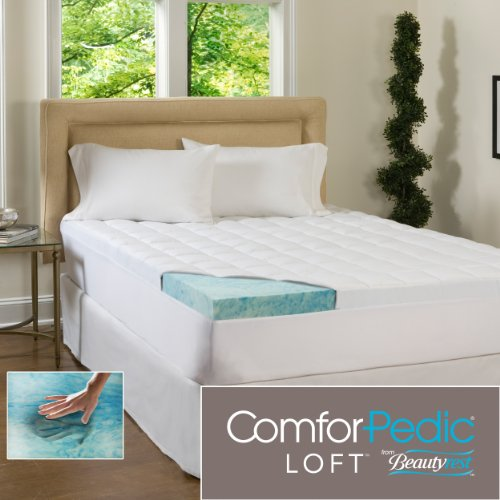 ComforPedic Loft Beautyrest 5.5-Inch Supreme Gel Memory Foam Topper for All Bed Sizes. Combining the 4-Inch Revolutionary Memory Foam Infused with Cool, Rejuvenating Gel Paired with a 1.5-Inch Fiber-Filled Cover Offers Luxurious Comfort and Support. (Queen)