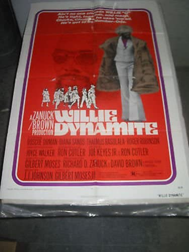 WILLIE DYNAMITE ORIG U.S. ONE Price reduction DIANA Tucson Mall POSTER MOVIE SHEET SANDS
