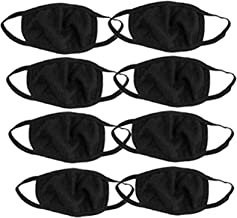 JoyJoss Anti Pollution Air Filter Washable Mask for Smoke Allergy (Black) Pack of 8