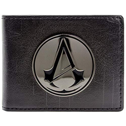 Ubisoft Assassins Creed Unity Symbol Badge Schwarz Portemonnaie Geldbörse