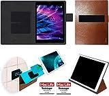 Hülle für Medion Lifetab P9701 Tasche Cover Case Bumper   in Braun Leder   Testsieger