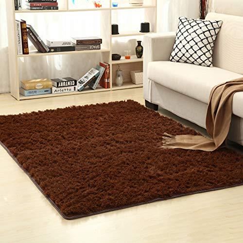 fuchsiaan Alfombra mullida, cálida, suave, antideslizante, para sala de estar, dormitorio, lavable, para decoración del hogar, café, 60 x 120 cm