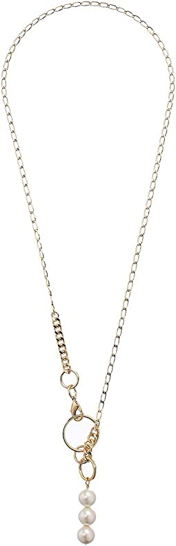 Linked Pearl Y-Necklace 30""