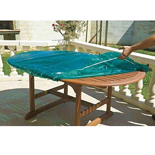 Maillesac JP0001 Housse pour Plateau de Table Ovale et Rectangulaire Plastique Vert Translucide 100 x 160 cm Taille 1