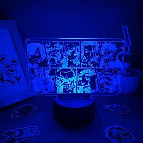 3D noche luz 3D LED noche luz regalo amigo dormitorio manga mesa decoración zbq
