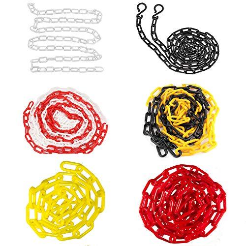 Haken Kettenglieder Kunststoff Absperrkette für Sicherheit Dekorative Gartenzaun Warnkette (1 Stück)