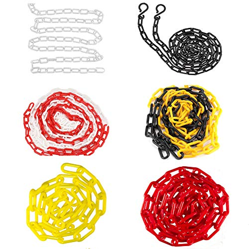 Hooks Chain Links Plastic Barrier Chain for Safety Decorative Garden Fence Warning Chain (Pack of 1)