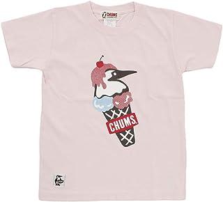 チャムス 半袖シャツ ジュニア Kid's Double Ice Cream T-Shirt キッズダブルアイスクリームTシャツ CH21-1075 Frst Pnk 120