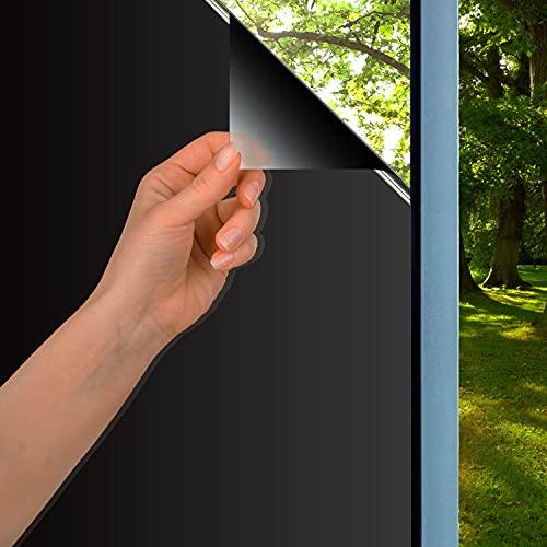 Xnuoyo Vinilo para Ventanas, Lamina Espejo para Ventana, Película de Ventana, Cristal Ventana Película de Espejo Unidireccional Protege contra los Rayos UV, la Luz Solar y el Calor (Negro, 40x