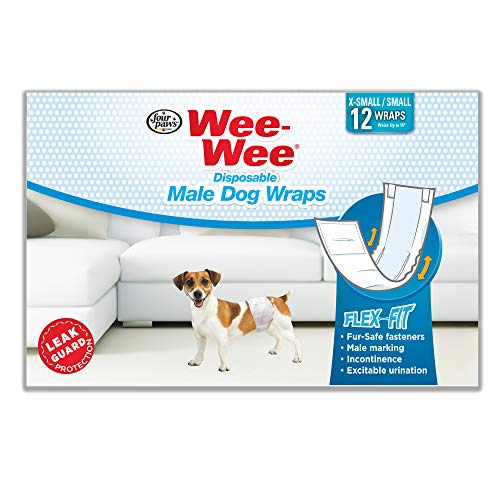 Wee-Wee Products Disposable Male Dog Wraps (12...