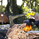 LEXIVON V18s Splitting Axe, 18-Inch Lightweight Fiber-glass Composite Handle & Ergonomic TPR Grip | Protective Carrying… 15 INNOVATIVE DESIGN - Fully encased over-molded blade. Hi-Tech fiberglass composite injected handle, featuring reinforced back spine & non-slip TPR grip. DURABLE - Drop-forged & heat-treated Grade A High-Carbon steel, meticulously hardened cutting edges provides a deeper and cleaner contact. SPLITTING - Wedge-shaped blade profile gives efficient one-strike splits. Perfect for splitting small to medium-sized fireplace logs & kindling.