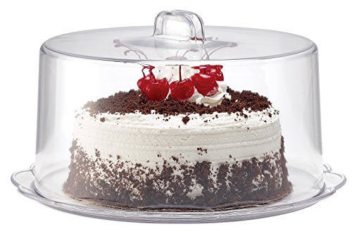 12-inch Cake Plate and Cover Set, Clear