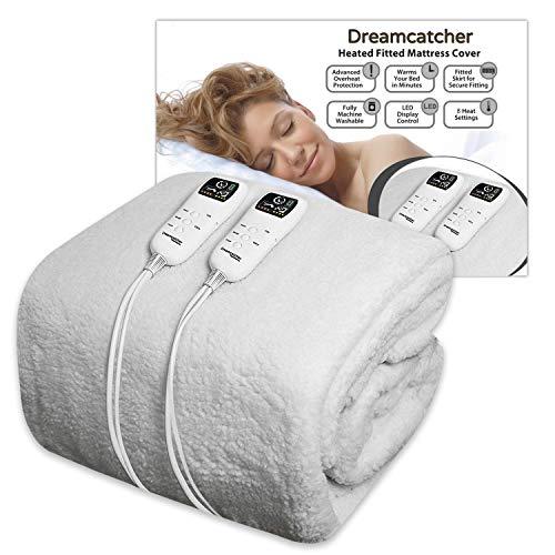 Dreamcatcher Double Electric Blanket Premium Polar Fleece, Electric Heated...